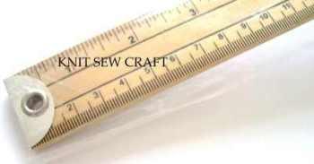 wooden metre stick ruler imperial/metric measurements