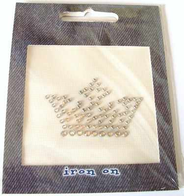 Rhinestone Iron On Motif: Tiara