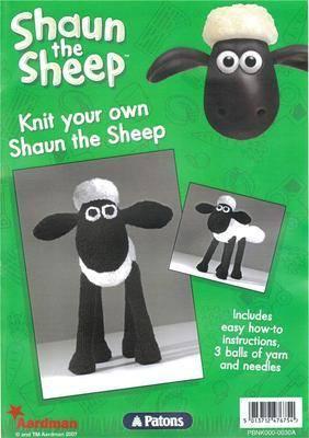 Patons Shaun the Sheep Toy Knitting Kit: Pattern, Wool & Needles