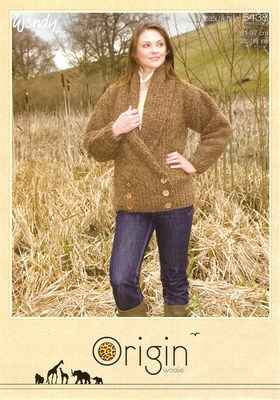 Wendy Origin Easy Knit Pattern 5438 Ladies Jacket