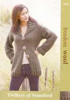 Twilleys Freedom Knitting Pattern Ladies Long Line Cardigan