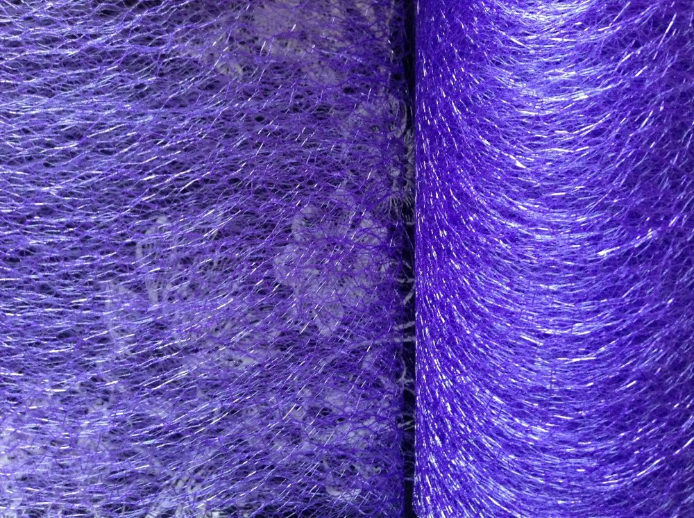 Purple Spider Web Net Club Green 15cm Netting Halloween Party Crafts