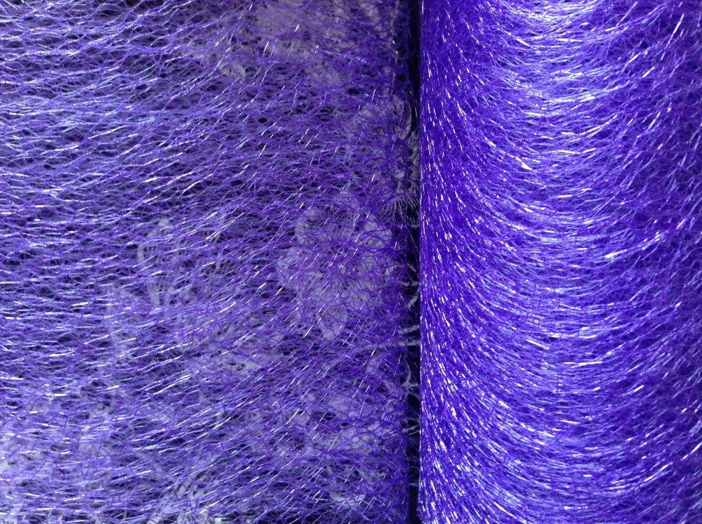 Purple Spider Web Net Sold Per Half Metre