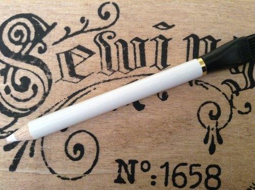 2 Fabric Marking Pencils With Brush WHITE