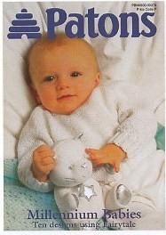 Patons Fairytale 2ply, 4ply, DK Millennium Babies Patterns Book 379