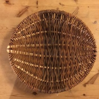 shallow frame basket from above