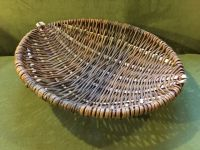 shallow frame basket on sofa