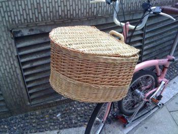 finished bike basket with lid