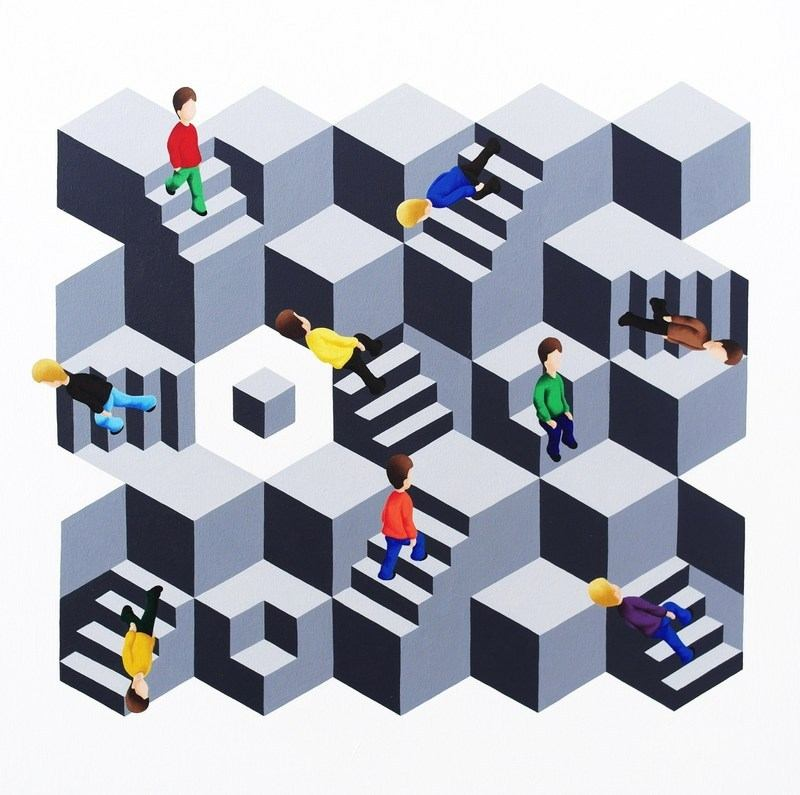 39 geometric illusions 39 series for Geometric illusion art