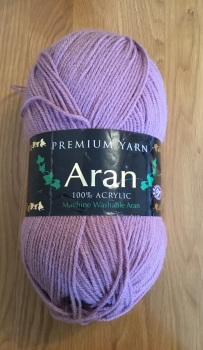 Premium yarn aran - light purple