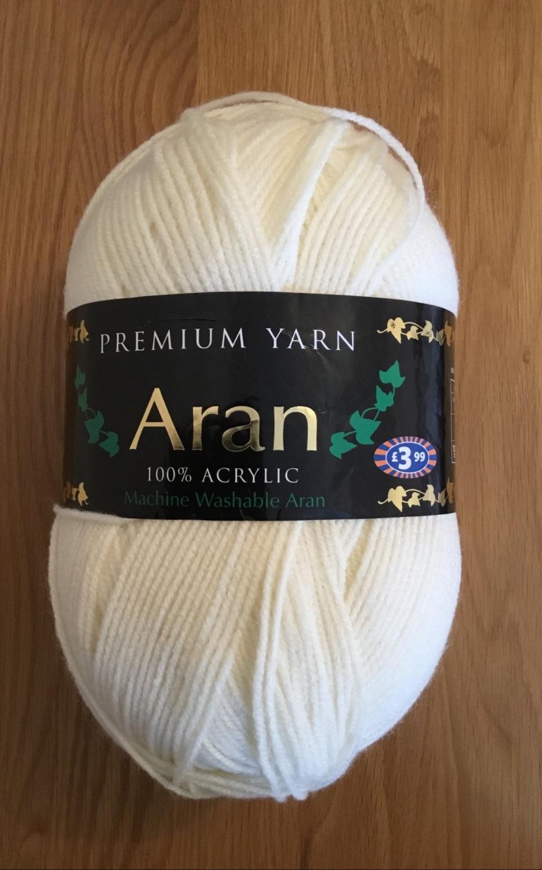 Premium yarn aran - cream