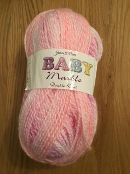 James C Brett baby marble - pink