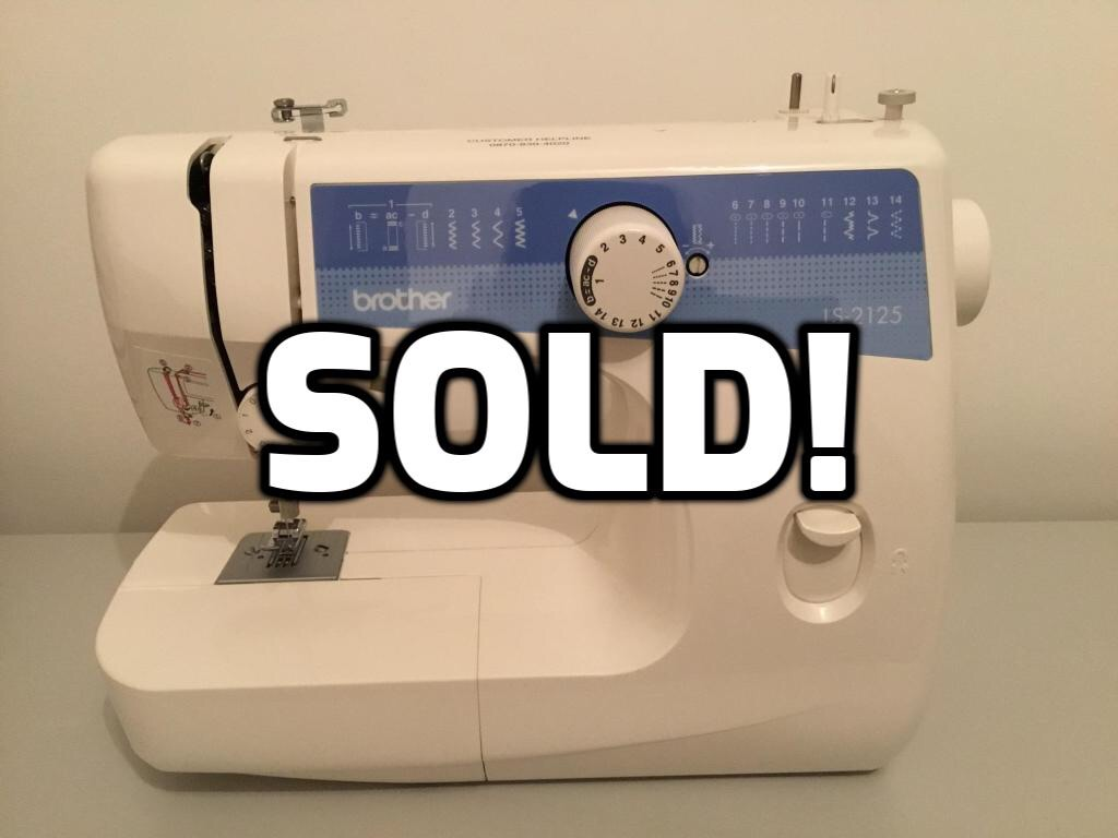Brother LS-2125 sewing machine & accessories