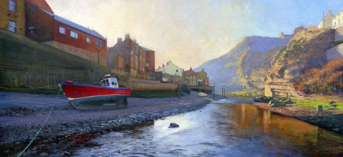 'Staithes Beck, Winter'