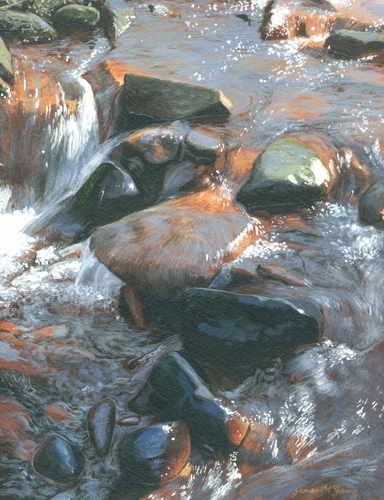 9. River Esk, Westerdale #4. Acrylic. 2010. 250 x 180mm
