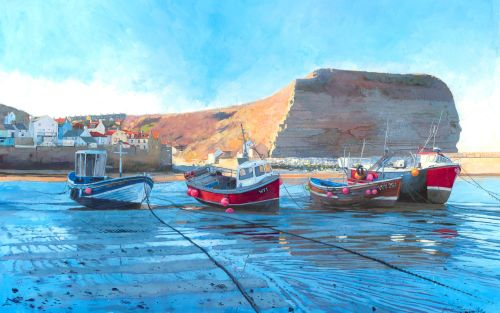 'Staithes, Low Tide.'