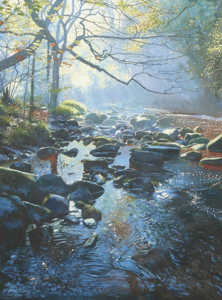 West Beck Autumn. 180 x 245mm