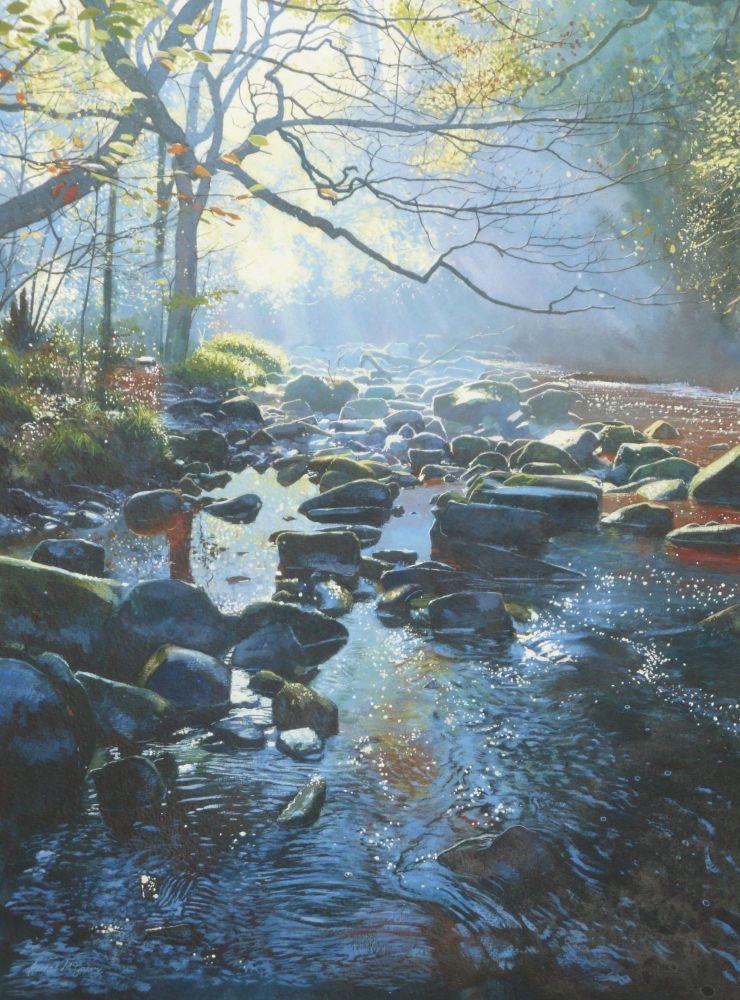 West Beck Autumn. 180 x 245mm