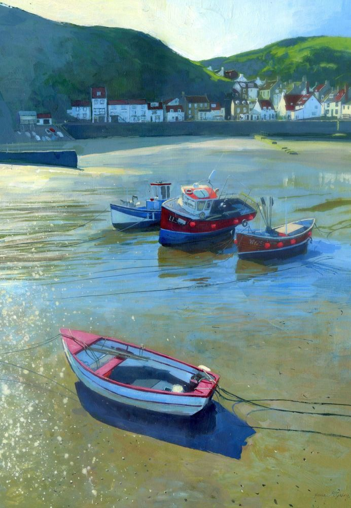 Staithes Boats. 180x260mm