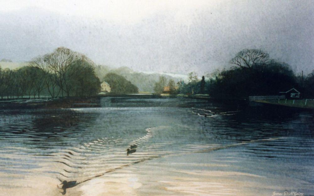 River Esk, Ruswarp. 160x100mm