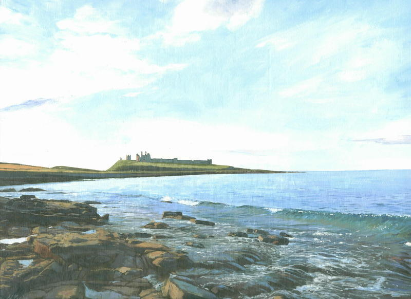 6. Dunstanburgh Evening. Acrylic. 360 x 250mm. 2010