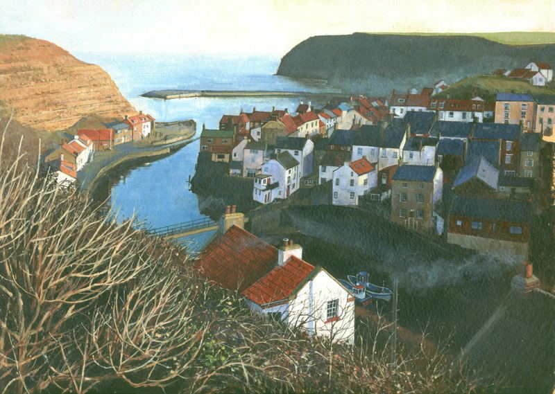 11. Staithes From Cowbar. Acrylic. 310 x 220mm. 2010
