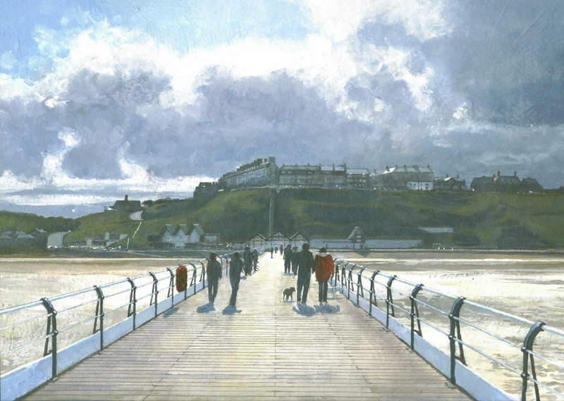 12. Saltburn Pier. Acrylic. 310 x 220mm. 2010