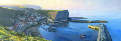 'Winter Sun Staithes'