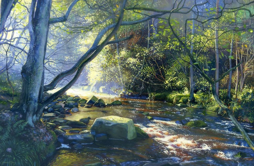 West Beck. 2019 Oil on board. 560mm x 360mm £995