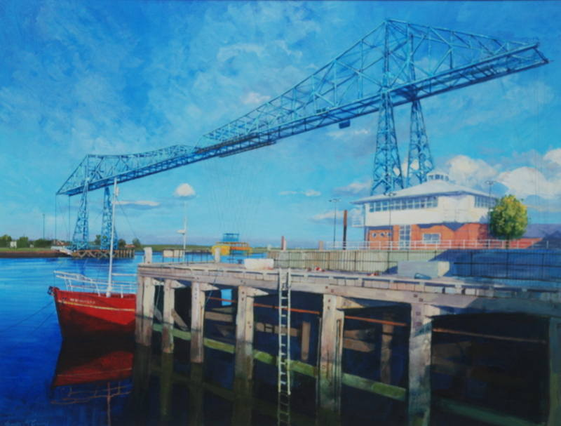017 Transporter Bridge. Acrylic. 2011. 360mmx250mm