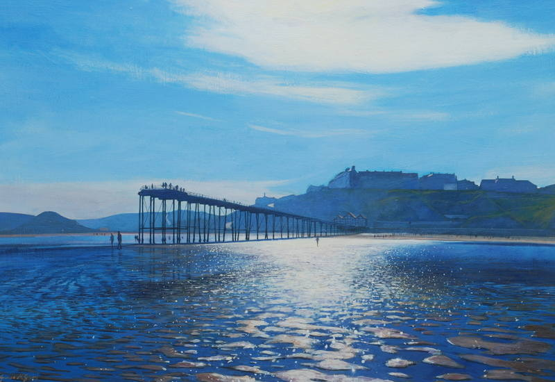 019 Low tide, Saltburn. Acrylic. 2011. 360mmx250mm