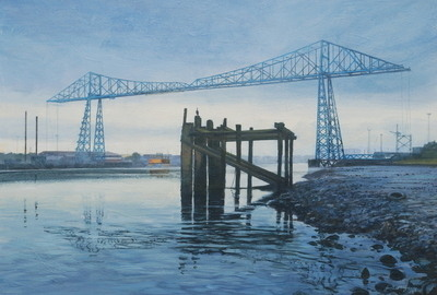 Transporter Bridge, August AM.