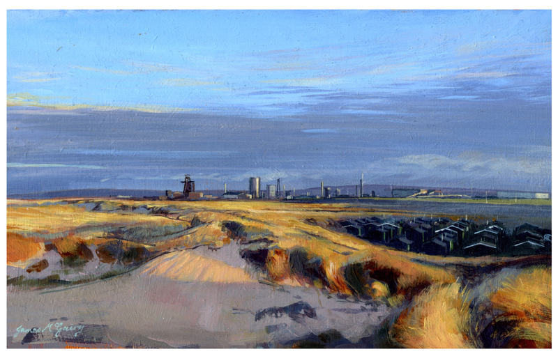 View From South Gare. Acrylic 2011