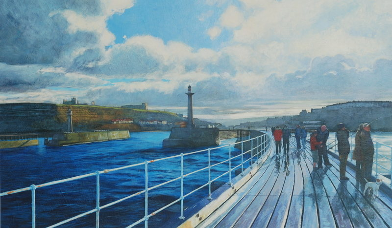 No.11. West Pier, Whitby. Acrylic. 2012. 600x360mm