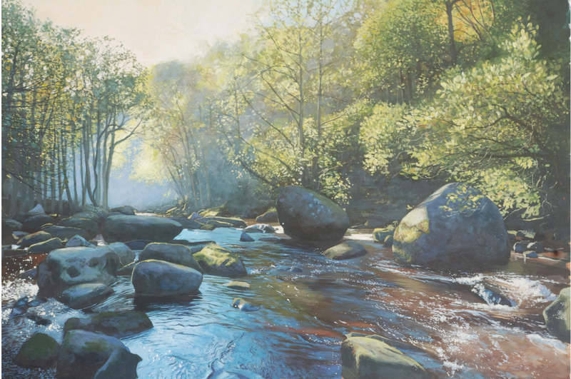 No.21. River Esk, Autumn Morning. Acrylic. 2012. 620x420mm