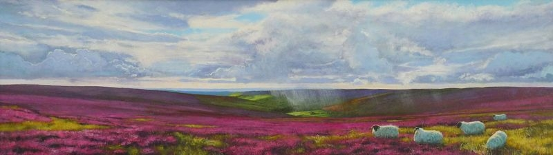 0007 Rosedale Heather acrylic. 2014 560 x 160mm SOLD