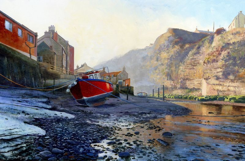 0009 Smokey Staithes acrylic. 2014. 250 x 360 mm