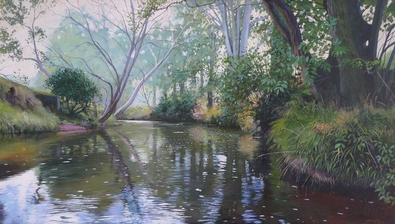 0014 River Esk acrylic 2014 560 x 340mm