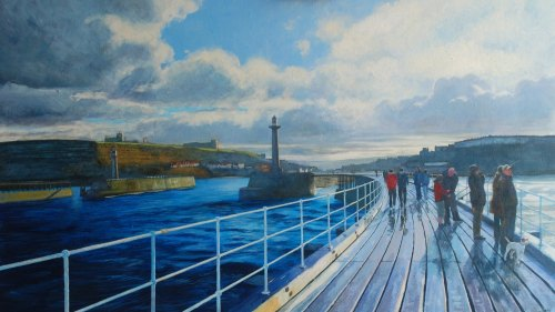 'Whitby, West Pier'