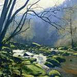 3.0.River Esk, near Glaisdale.. acrylic. 2013. 360 x 260 mm.