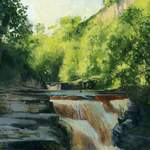 1.0 Kisdon Force. Acylic. 2013. 170mm x 115mm.  SOLD