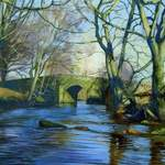 7.0. Dibble Bridge. Acrylic. 2013. 260 x 160mm.