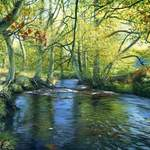 21.0 River Esk, Westerdale. Acrylic. 1013 .  540 x 350 mm  SOLD