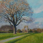 24.0 Gisborough Priory , Spring. Acrylic 2013 SOLD