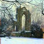 27.0 Gisborough Priory, Winter. Acrylic. 2013 . 260 x 350 mm