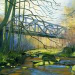20m. 3.0 Rail Bridge, Eskdale. acrylic. 2013. 170x130mm.