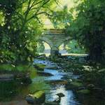 20m. 4.0.Eller Beck, Beck Hole. acrlic. 2013 165x115mm. SOLD