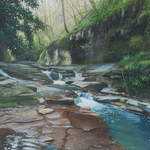 20m. 9.0. Skelton Beck. acrylic. 2013. 550 x 360.mm.