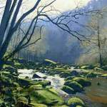 20m. 10.0. River Esk, near Glaisdale.  acrylic. 2013.  360 x 260 mm.