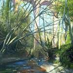 20m. 17.0. Viaduct, Skelton Beck. acrylic. 2013. 340 x 550mm.